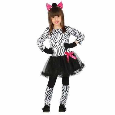 Dierencarnavalskleding zebra verkleedjurkje meisjes valkenswaard