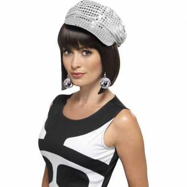 Disco accessoires verkleedset disco petje oorbellen dames carnavalskl