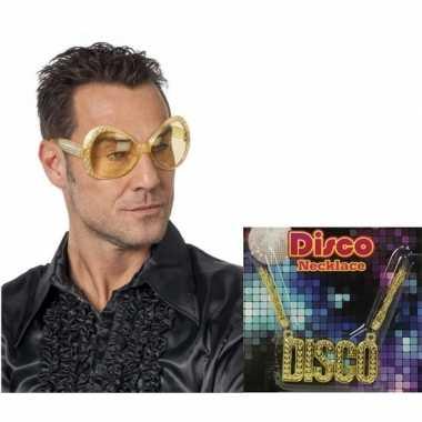 Disco accessoires verkleedset heren carnavalskleding valkenswaard