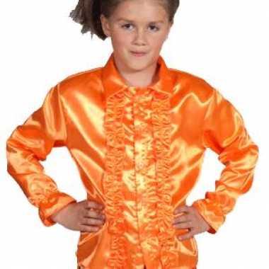 Disco blouse oranje kinderen carnavalskleding valkenswaard