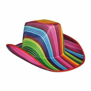 Disco cowboyhoed gekleurd carnavalskleding valkenswaard