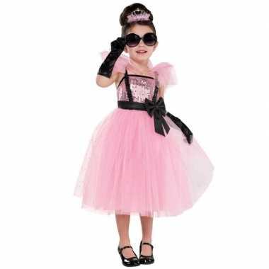Diva glam prinses/prinsessen jurk carnavalskleding meisjes valkenswaa