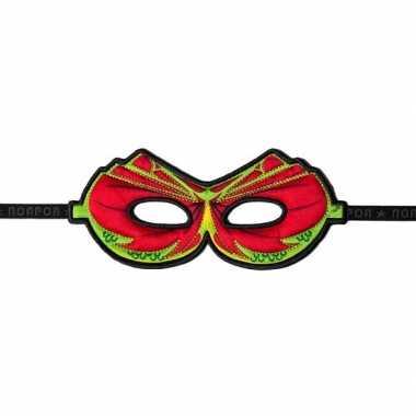 Draken oogmasker rood carnavalskleding Valkenswaard