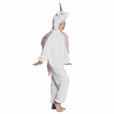Eenhoorn dieren onesie/carnavalskleding kinderen wit valkenswaard