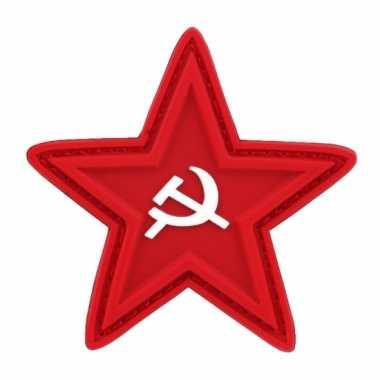Embleem rode ster sikkel hamer