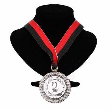 Excelsior kleuren medaille nr. lint rood zwart carnavalskleding valke