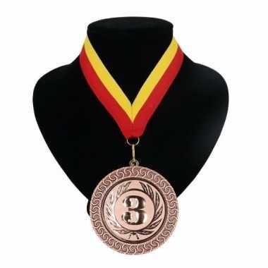 Fan medaille nr. lint rood geel carnavalskleding valkenswaard