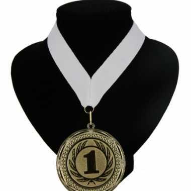 Fan medaille nr. lint wit carnavalskleding Valkenswaard