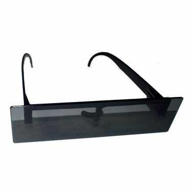 Feestbril zwart censuur balkje carnavalskleding valkenswaard