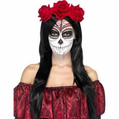 Festival haarband rode rozen carnavalskleding Valkenswaard