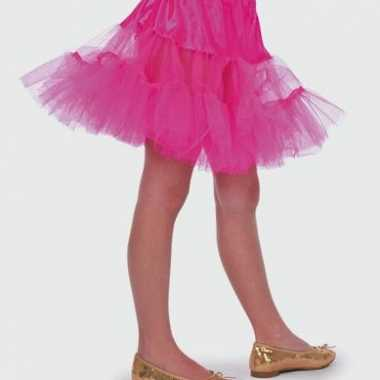 Fuchsia petticoat meiden carnavalskleding Valkenswaard