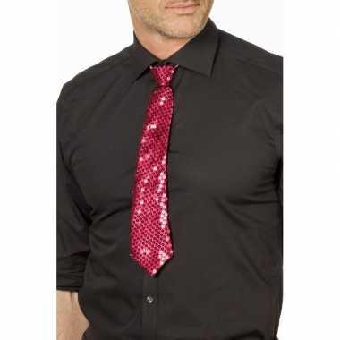 Fuchsia roze glitter stropdas verkleedaccessoire dames/her carnavalsk