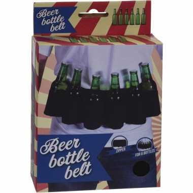 Gadget riem bierflesjes carnavalskleding valkenswaard