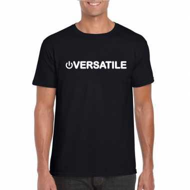 Gay shirt power versatile zwart heren carnavalskleding valkenswaard