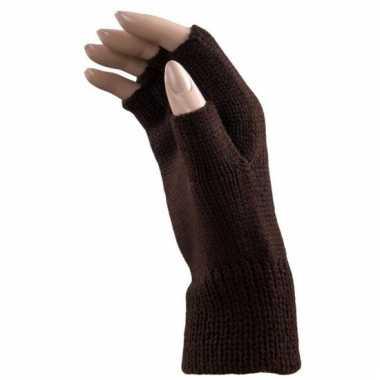 Gebreide handschoenen vingerloos volwassenen carnavalskleding valkens