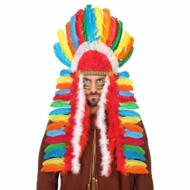 Gekleurde indianen tooi heren carnavalskleding valkenswaard