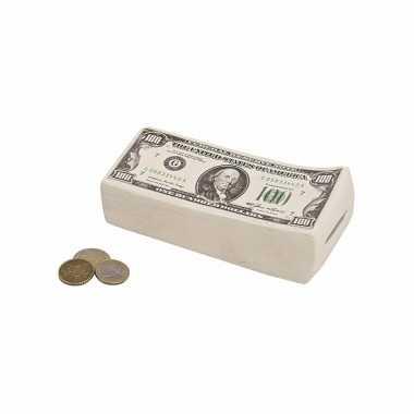 Geld spaarpot Dollar biljetten carnavalskleding Valkenswaard