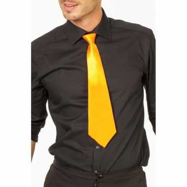 Gele stropdas verkleedaccessoire dames/heren carnavalskleding valkens