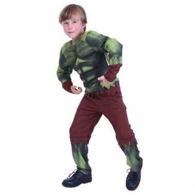 Gespierde groene held carnavalskleding jongens valkenswaard