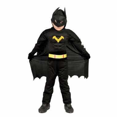 Gespierde vleermuisheld zwart verkleed carnavalskleding jongens valke