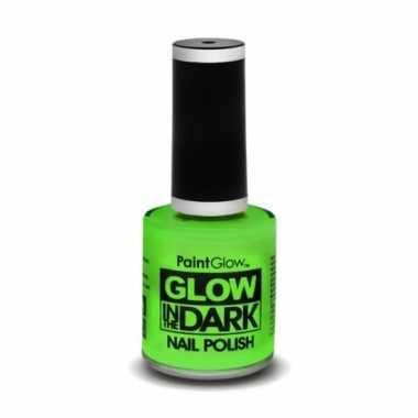 Glow the dark nagellak neon groen carnavalskleding valkenswaard