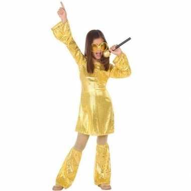 Goud glitter carnavalskleding pailletten meisjes valkenswaard