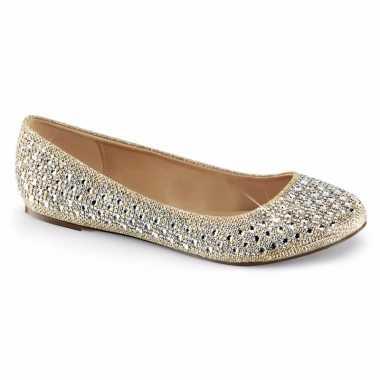 Goud/zilveren ballerina schoenen glitters dames carnavalskleding valk