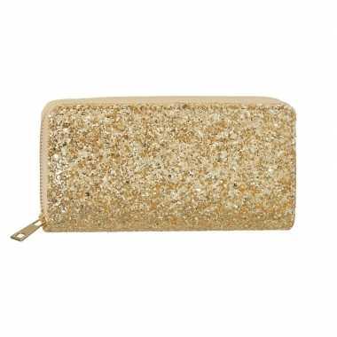 Gouden glitter portemonnee dames carnavalskleding valkenswaard