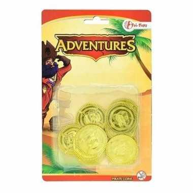Gouden piraten speelgoed munten carnavalskleding valkenswaard