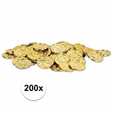 Gouden schatkist munten