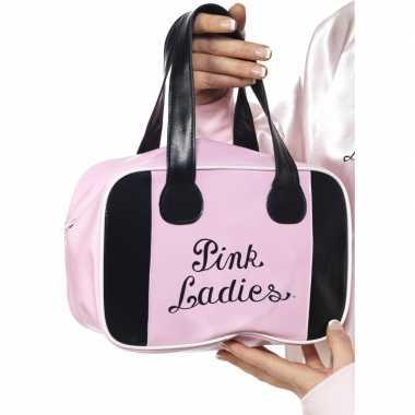 Grease tasje Pink Ladies carnavalskleding Valkenswaard