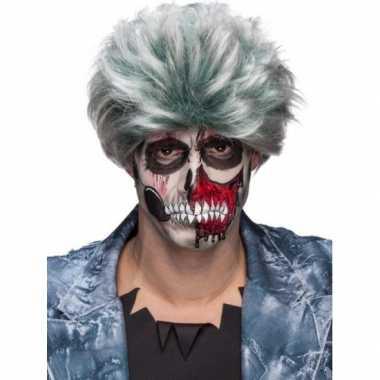 Grijze zombiepruik heren