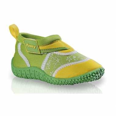 Groen/gele zwemschoenen kids carnavalskleding Valkenswaard