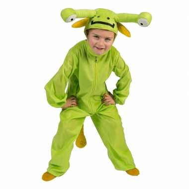 Groen marsmannetje verkleed carnavalskleding peuters valkenswaard
