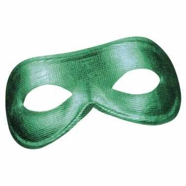 Groen metallic oogmasker dames carnavalskleding valkenswaard