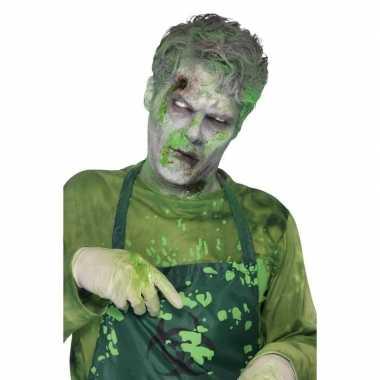 Groen monster nepbloed/filmbloed ml carnavalskleding valkenswaard