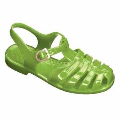 Groene basic waterschoenen kinderen carnavalskleding valkenswaard