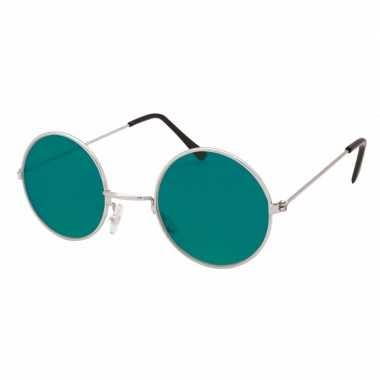 Groene hippie bril carnavalskleding valkenswaard