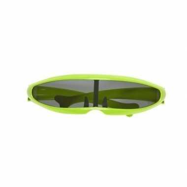 Groene space bril carnavalskleding valkenswaard