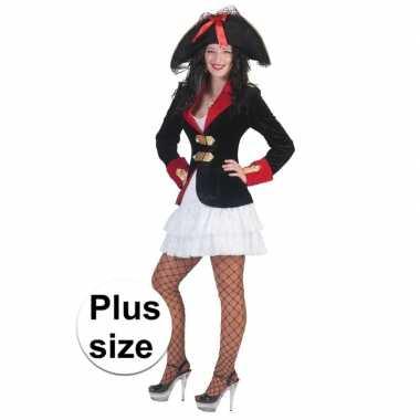 Grote maat piraten jurkje colbert dames carnavalskleding valkenswaard