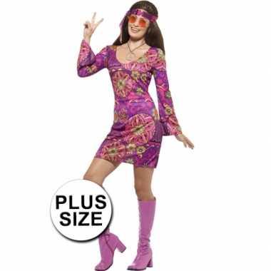 Grote maten hippie dames carnavalskleding woodstock valkenswaard