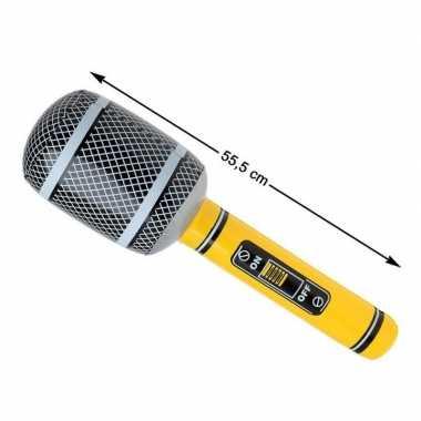 Grote opblaasbare microfoon carnavalskleding valkenswaard