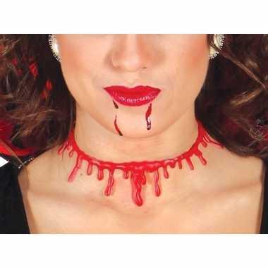 Halloween bloederige nek ketting dames