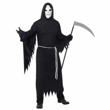 Halloween carnavalskleding magere hein masker volwassenen valkenswaar
