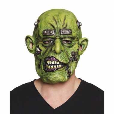 Halloween groen eng halloween oger masker latex carnavalskleding valk