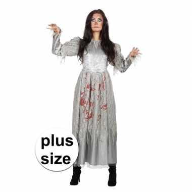 Halloween grote maat zombie halloween bruidsjurk dames carnavalskledi