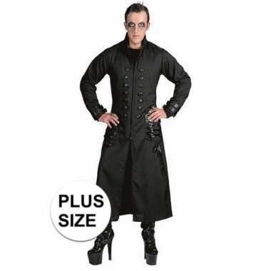 Halloween grote maten zwarte gothic/vampier jas carnavalskleding here