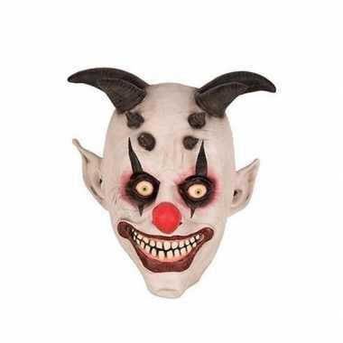 Halloween halloween clown hoorns masker latex carnavalskleding valken