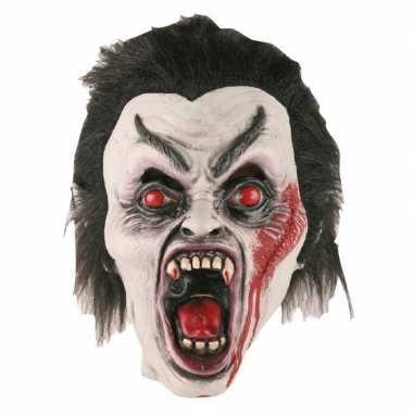 Halloween halloween dracula masker latex carnavalskleding valkenswaar