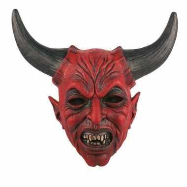 Halloween halloween duivel masker latex carnavalskleding valkenswaard